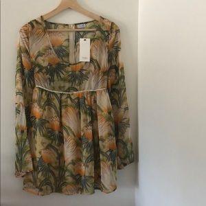 NWT Tobi Tropical Print Dress